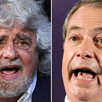 """Euroscettici, Farage a Grillo: """"Insieme possiamo causare un sacco di"""