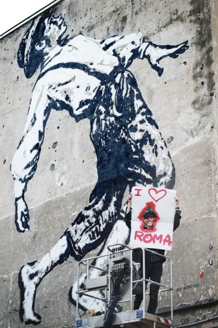 Aérosol in mostra a Roma: arriva il maestro francese della street art
