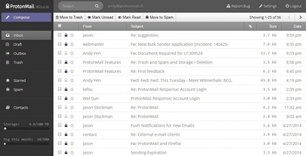 ProtonMail, la posta elettronica anti-spionaggio