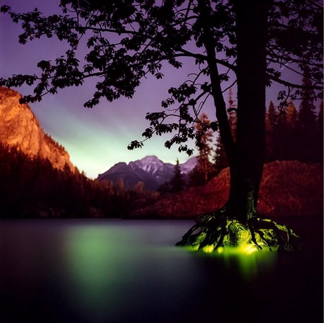 Paesaggi surreali, l'arte della luce che arreda