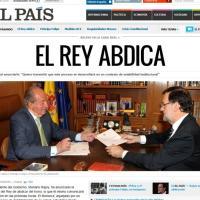 """""""El Rey abdica"""", la notizia sui siti stranieri"""