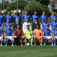 Nazionale, azzurri in posa per la foto di gruppo