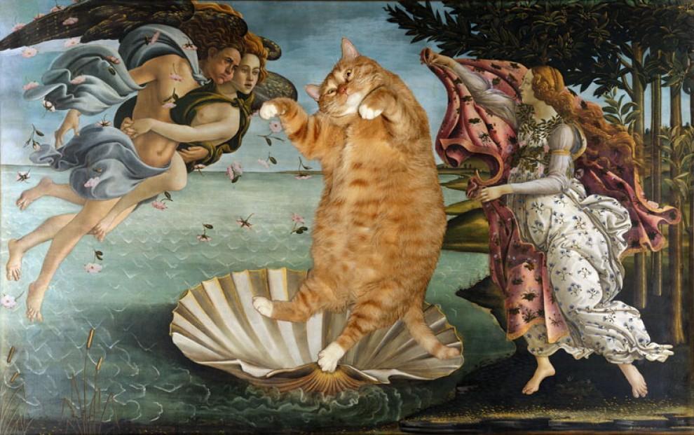 Fat Cat, l'arte del fotoritocco: il protagonista è un gatto