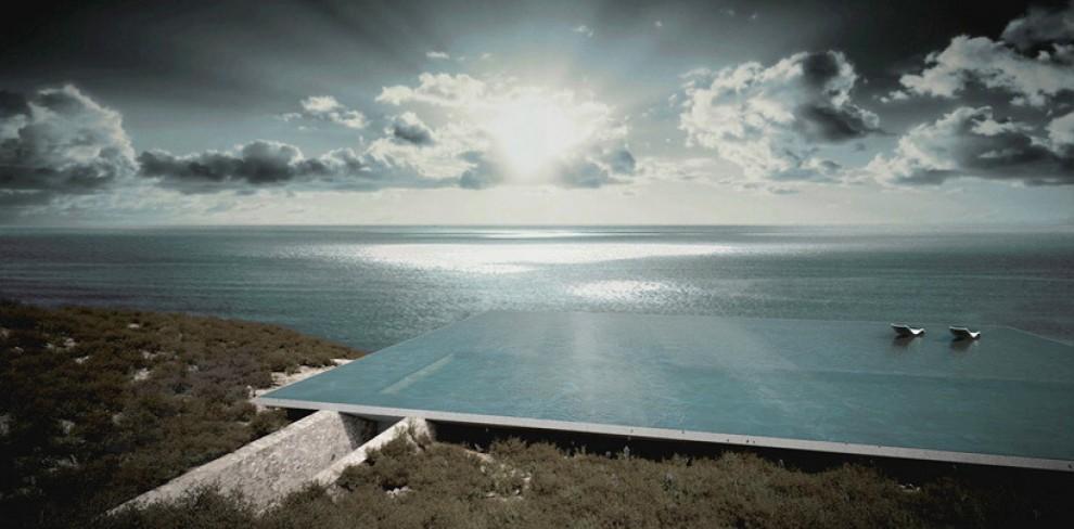 Grecia, isola di Tinos: il residence nascosto sotto la piscina