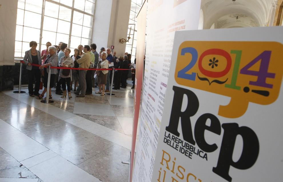 Repubblica delle Idee apre al pubblico: la festa dei lettori