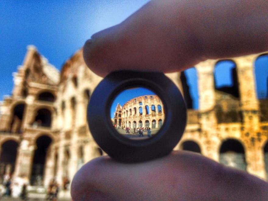 Panorama in miniatura: il mondo visto attraverso una lente