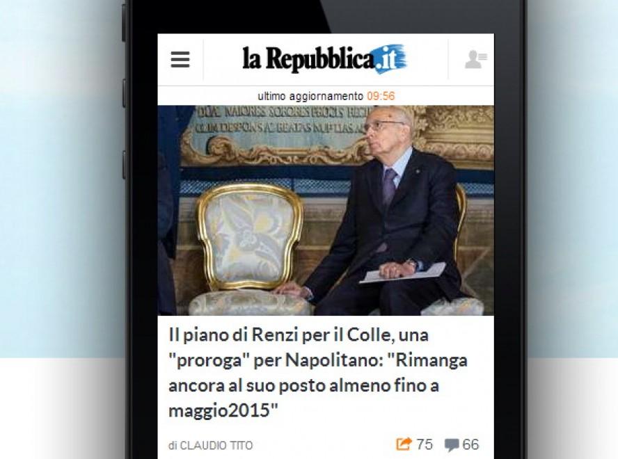 Mobile ecco il nuovo sito for Sito la repubblica
