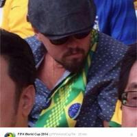 Brasile-Croazia, Leonardo DiCaprio in tribuna