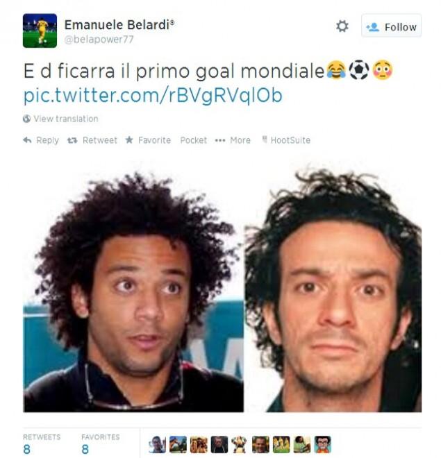 Brasile 2014, su Twitter: L'autogol di Marcelo-Ficarra, ma Picone dov'è?