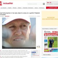 Schumacher fuori dal coma: la notizia sui siti stranieri