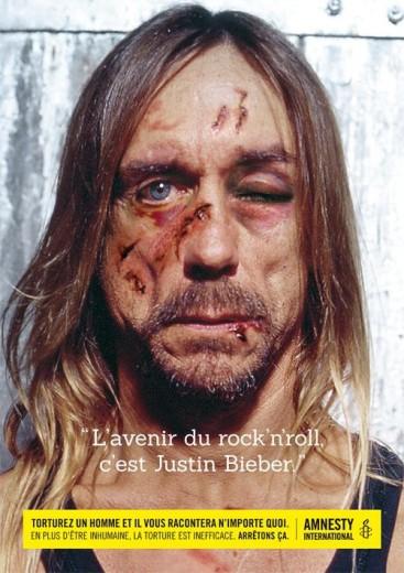 """Amnesty, Iggy Pop sotto tortura: """"Futuro del rock è Justin Bieber"""""""