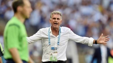 Iran, Queiroz: ''Arbitro e Messi hanno fatto la differenza''