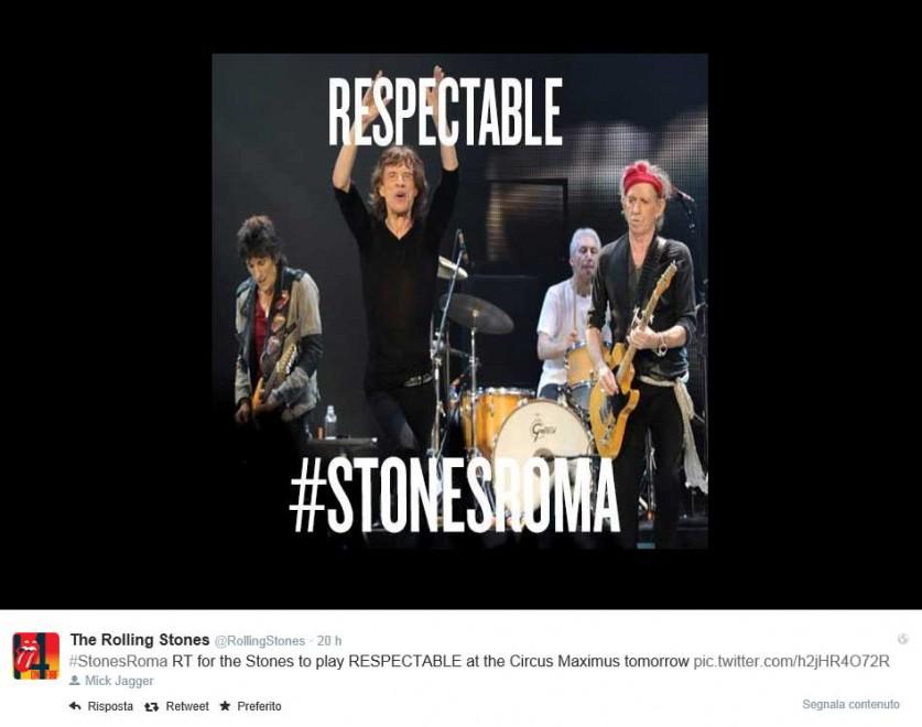 #stonesroma, social media marketing a Roma