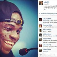 """Instagram, aspettando l'Uruguay. Balotelli: """"Voglio sorridere ancora"""""""