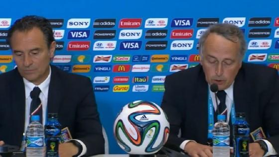 """Nazionale, Prandelli: """"Mi dimetto, mia la responsabilità"""". Abete: """"Lascio anch'io"""""""