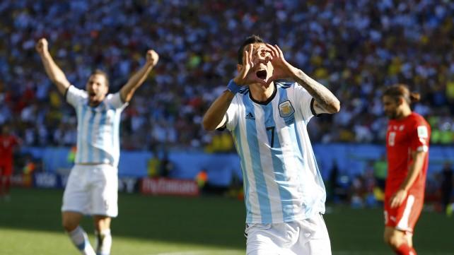 Argentina-Svizzera 1-0: Messi inventa, Di Maria segna. Ora il Belgio