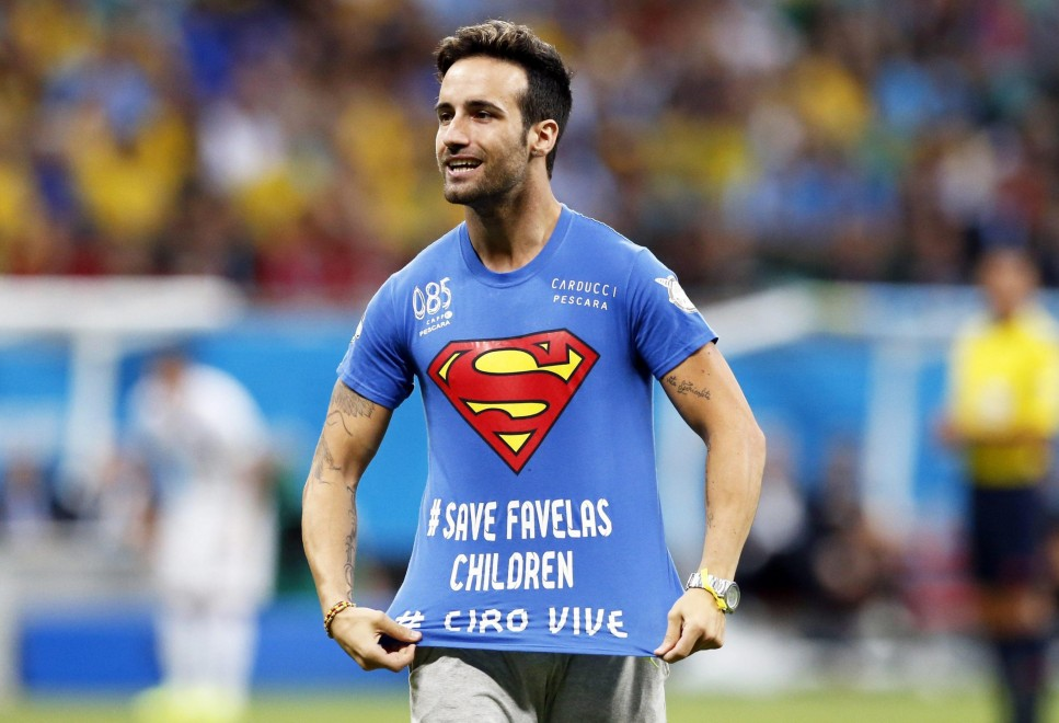 Brasile 2014, l'ultimo italiano ai Mondiali è l'invasore: in campo con la maglia per Ciro