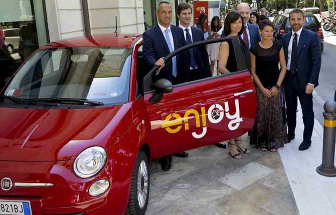 """Il servizio di car sharing """"Enjoy"""" arriva a Rimini"""