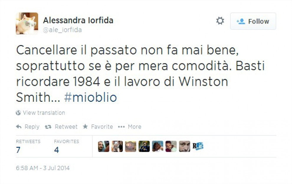 TwitterTime: Internet vs diritto all'oblio, i top tweet