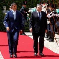 """Barroso a Renzi: """"C'è bisogno di un'Italia forte"""". Il premier: """"Flessibilità serve a Europa"""""""