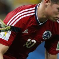Brasile 2014, Colombia: sulla maglia di Rodriguez spunta una cavalletta gigante
