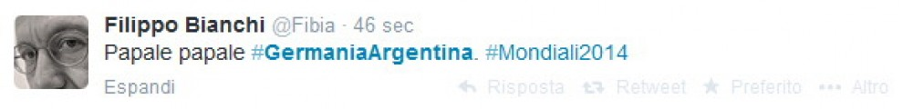 Brasile 2014, Germania-Argentina: i 100 tweet imperdibili