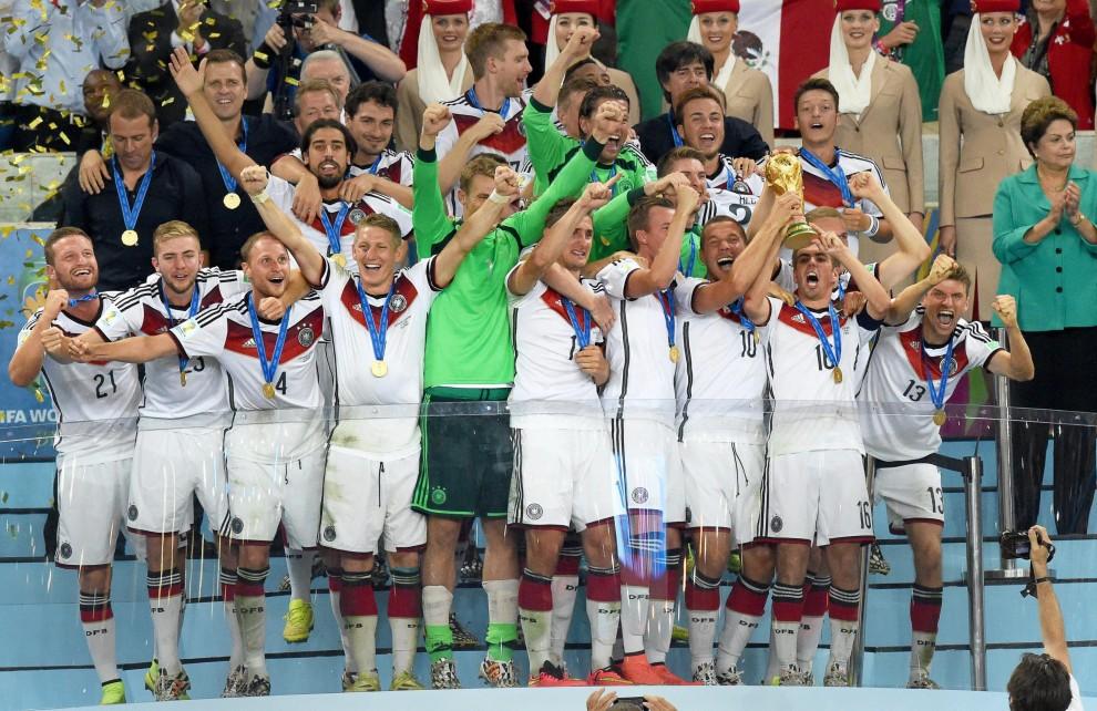 Brasile 2014, Germania campione: la consegna della coppa