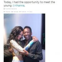 Brasile 2014, Pelè a Rihanna: ''Finalmente ti conosco''