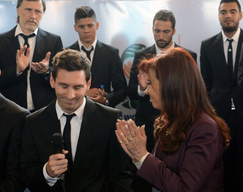 Argentina, accoglienza trionfale: la squadra ringraziata dalla Kirchner