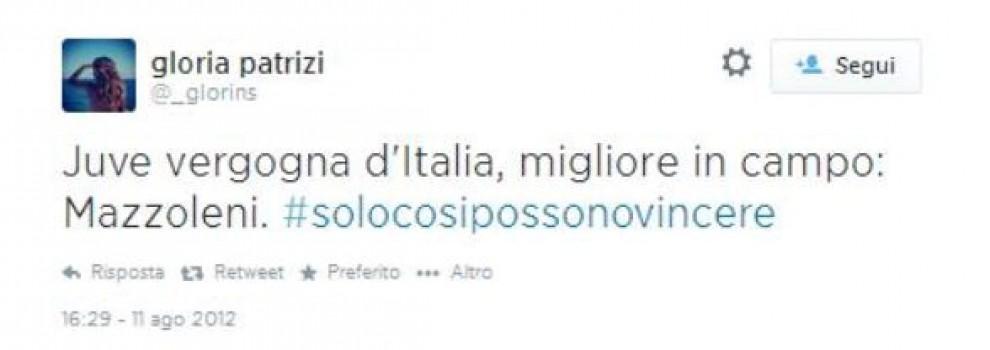 I tweet del 2012 della fidanzata di Allegri: ''Juve vergogna d'Italia''