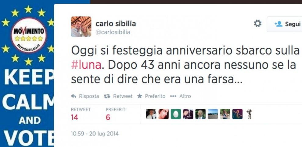 'La farsa dello sbarco sulla Luna': il tweet del deputato Sibilia (M5S)
