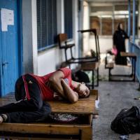 Gaza, la scuola rifugio degli sfollati