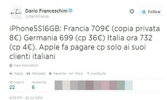 """Equo compenso, è allarme rincari. Siae contro Apple: """"Vendiamo noi gli iPhone"""""""