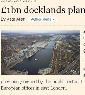 Pechino investe 1,2 miliardi a Londra: sui docks del Tamigi una China-city per il business