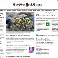 Tour de France, vittoria Nibali: anche il New York Times la celebra