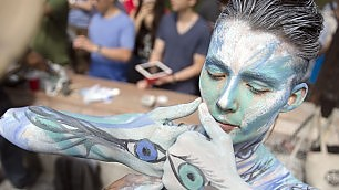 Corpi e colori a New York per il Body painting Day