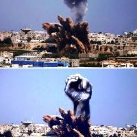 L'arte trasforma i raid su Gaza: i disegni di un architetto palestinese