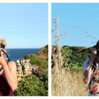 I due lati della vacanza: doppio scatto nello stesso posto
