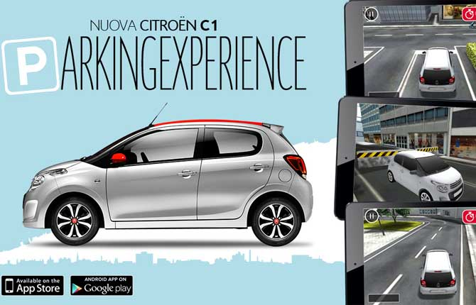 Citroën C1 Parking Experience, il parcheggio diventa un gioco da