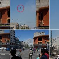 Il razzo su Gaza City: la fotosequenza