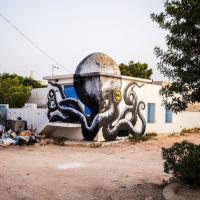 Tunisia, la street art che si adatta: graffiti 3D grazie alle cupole