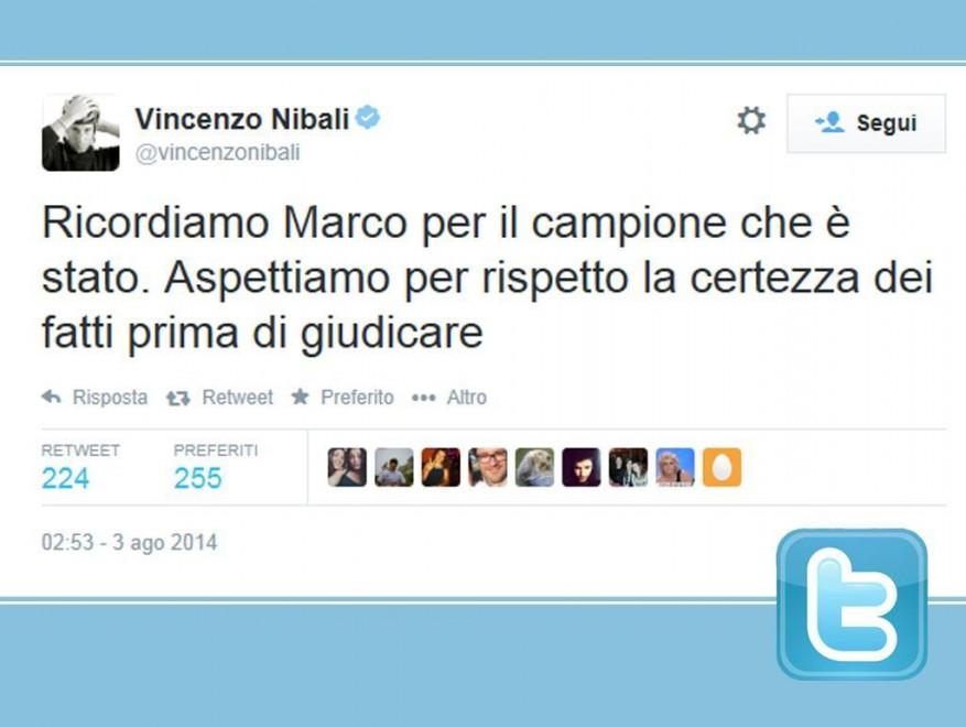 "Caso Pantani, tweet Nibali: ""Aspettiamo certezze per giudicare"""
