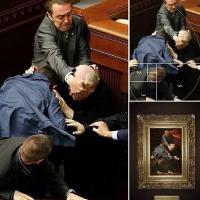 Ucraina, Rinascimento in Parlamento, lo scatto della rissa è un quadro