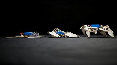 Robot-origami supersottile si piega, cambia e cammina