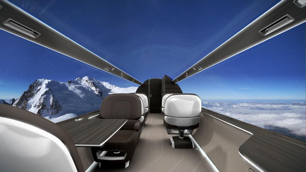 Francia, l'aereo del futuro è con vista panoramica