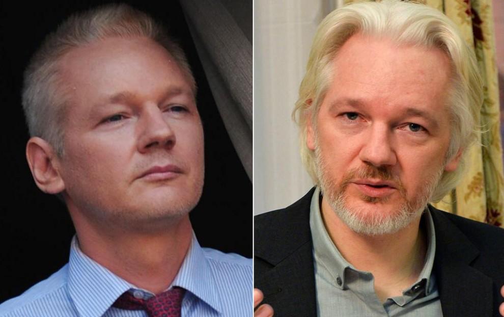 Assange, invecchiato da una vita da recluso: fotoconfronto