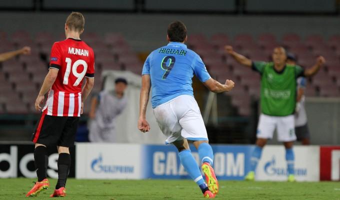 Champions, Napoli-Athletic 1-1: Higuain risponde a Muniain, si decide tutto al San Mames