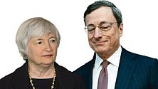 Banchieri centrali  spaccati a Jackson Hole Yellen e Draghi i due big