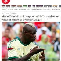 Balotelli al Liverpool, la notizia sulla stampa inglese