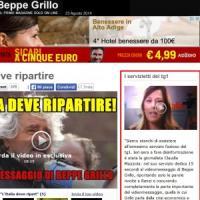 """Il blog di Grillo contro il Tg1: """"Stanchi dei 'servizietti' faziosi, è una vergogna"""""""